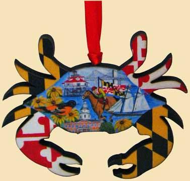 Maryland Ornaments-Crab Ornaments